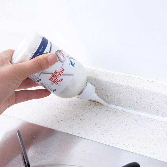 280ml Tile Repair Glue Epoxy Grout Sealant For Floor Seam Gap Repair Waterproof Mouldproof Restore The Look Of Tile Grout Lines