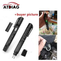 Brake Fluid Tester Pen Liquid Tester With 5 LED Car Vehicle Tools Diagnostic Tools Brake Fluid Tester For DOT3/DOT4 free ship