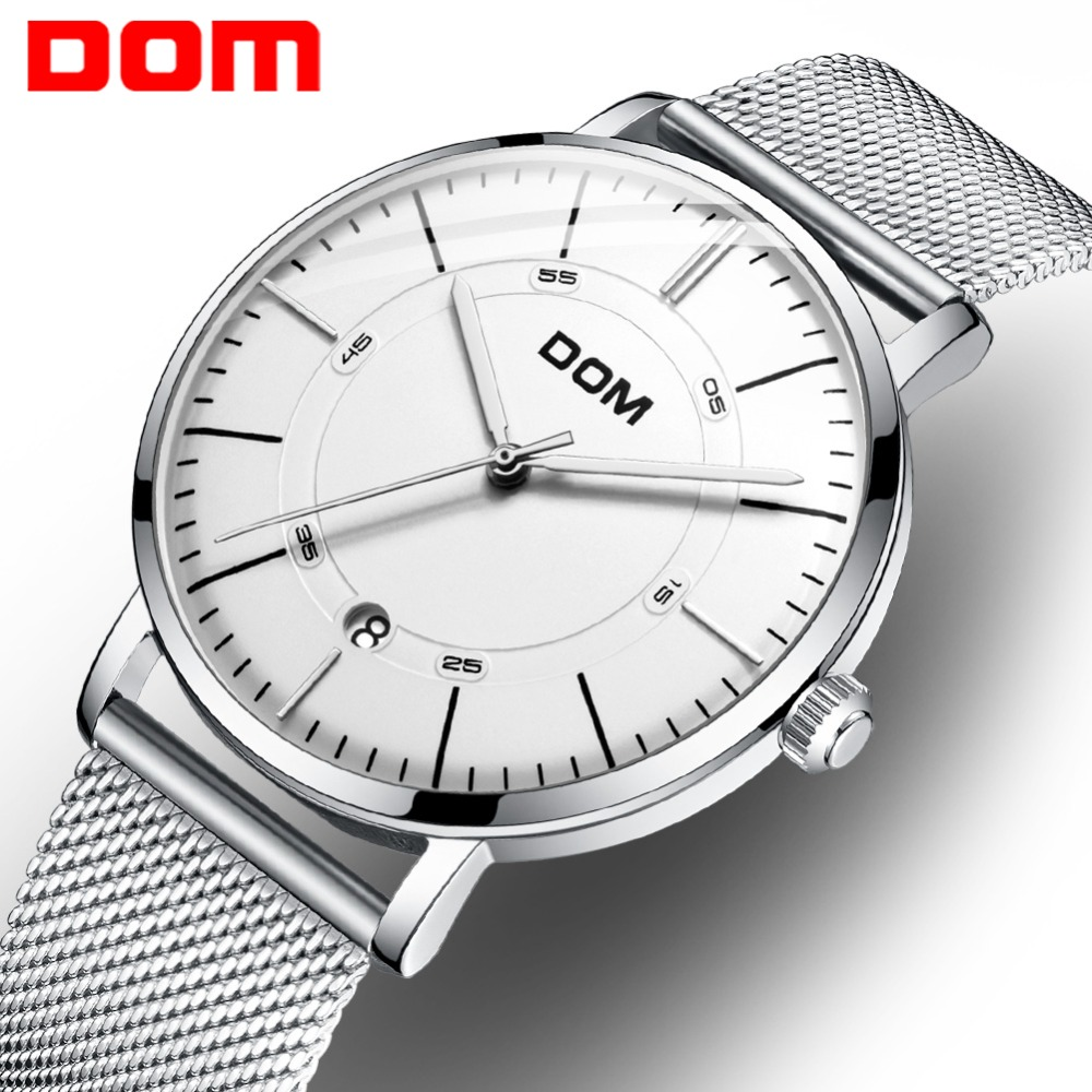 DOM Men Watches Automatic Mechanical Watch Male Clock Fashion Stainless Steel Watch Top Brand Wristwatch Relogio Masculino M8106