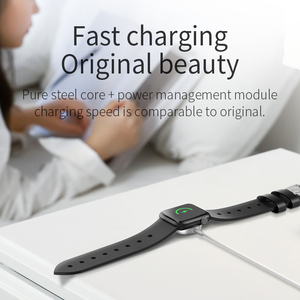 Image 2 - HOCO For iWatch Wireless Charger Portable Quick Charge Watch Pad 1m Cable Fast wireless Charging for Apple iWatch 1 2 3 4