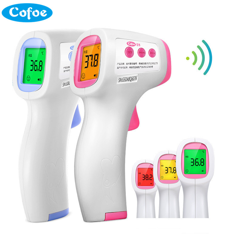 Cofoe Лоб Инфракрасный термометр бесконтактный ЖК-дисплей ИК Температура измерения диагностический инструмент устройства для новорожденных детей взрослых