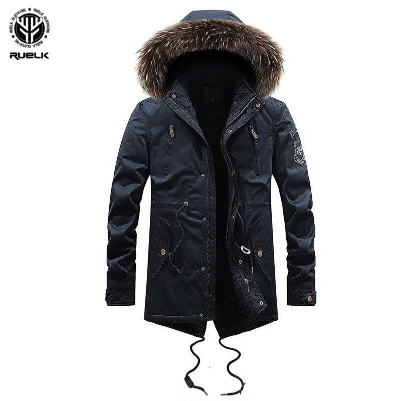 Men Coats Winter Jacket Men Slim Thicken Hooded Outwear Warm Coat Top Casual Mens Coat Tops