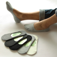 5 пар/лот summer стиль невидимые носки силиконовые мужские тапочки носок хлопка твердых(China (Mainland))