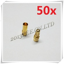 50pairs/lot 3.5mm Gold Bullet Connector Battery ESC Plug for rc helicopter car boat