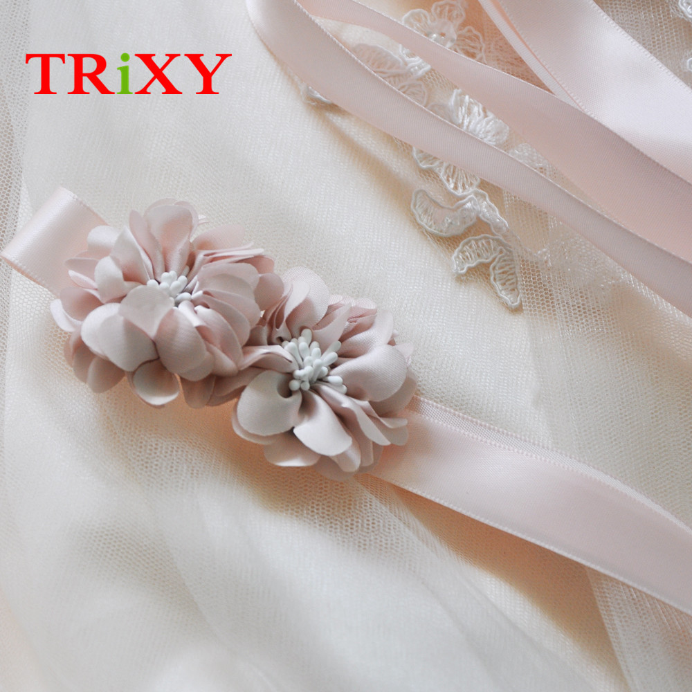 Beautiful Flowers For Weddings: TRiXY S342 BP Charming Flowers Wedding Belts Real Samples