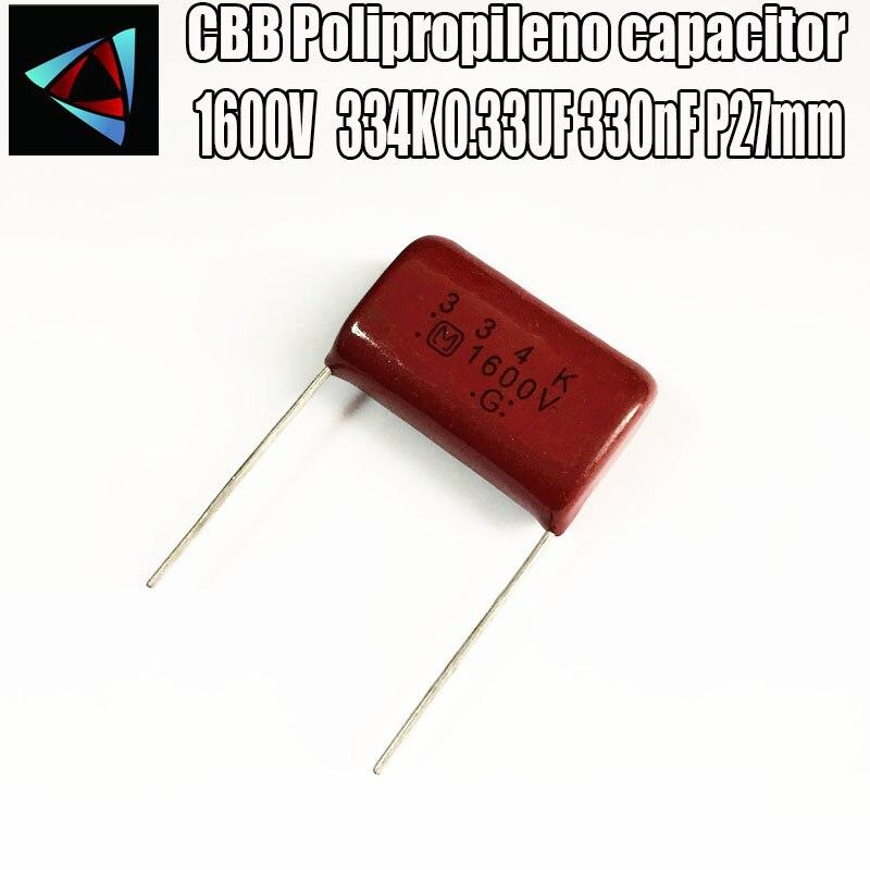 50PCS CBB 202J 1600V CBB81 2000PF 2NF P15 Metallized Film Capacitor