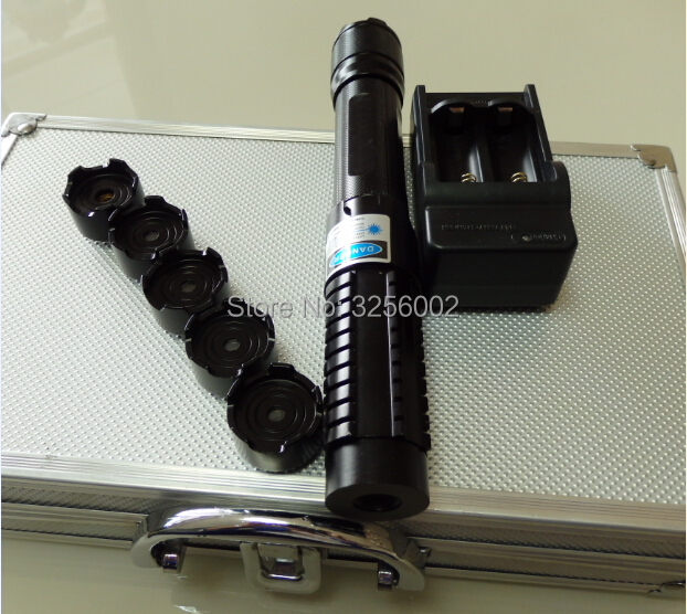 HOT! Military Most Powerful Flashlight Burning Laser Torch 450nm 500000mw 500W Focusable Blue laser pointer Burn paper Hunting какое авто можно до 500000