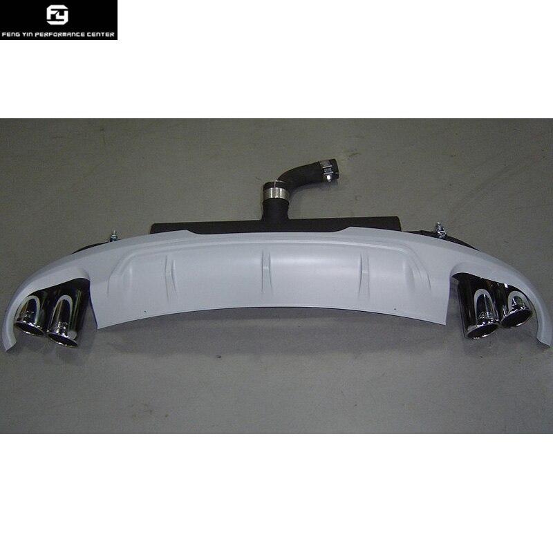Aliexpress Com Buy Tt Tts Style Rear Bumper Diffuser Exhaust Pipes