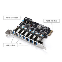 7 Ports Superspeed PCI E To USB 3 0 Expansion Card PCI Express Internal XXM