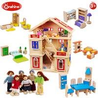 Полный набор ролевые игры дети имитация woodines игрушечная мебель DIY родитель ребенок Взаимодействие сцена моделирование детский подарок