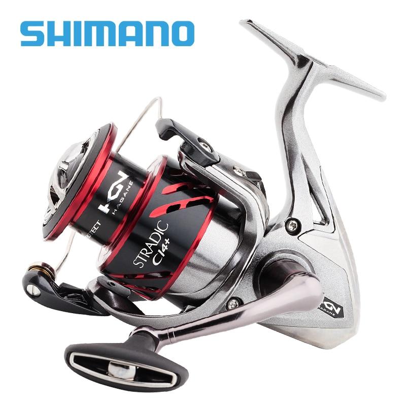 Image 2 - SHIMANO STRADIC CI4+ Spinning Fishing Reel 1000 2500 C3000 4000 Gear ratio 5.0:1/4.8:1 max drag 9kg Low Profile fishing reelsFishing Reels   -