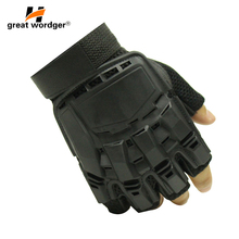 Mens Leather Driving Gloves Military Tactical Luvas Paintball Airsoft Outdoor Sports Fitness Fingerless