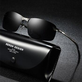 AORON 2019 męskie okulary spolaryzowane okulary męskie lotnictwo Metail rama jakości okulary Outdoor Driving for Accessories S4