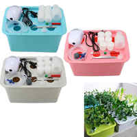 Mayitr Hydroponic System Kit 6 Holes Nursery Pot Kits Bubble Indoor Garden Cabinet Box Soiless Cultivation Plant Grow Boxes