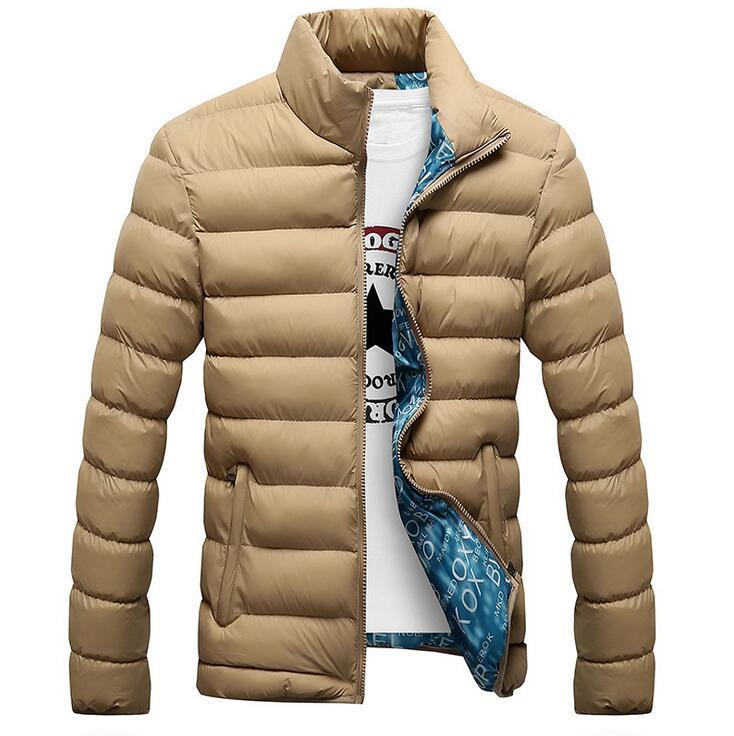 Kış Ceketler Erkek 2019 Yeni Şık Slim Spor Kapitone Uzun Kollu - Erkek Giyim - Fotoğraf 4