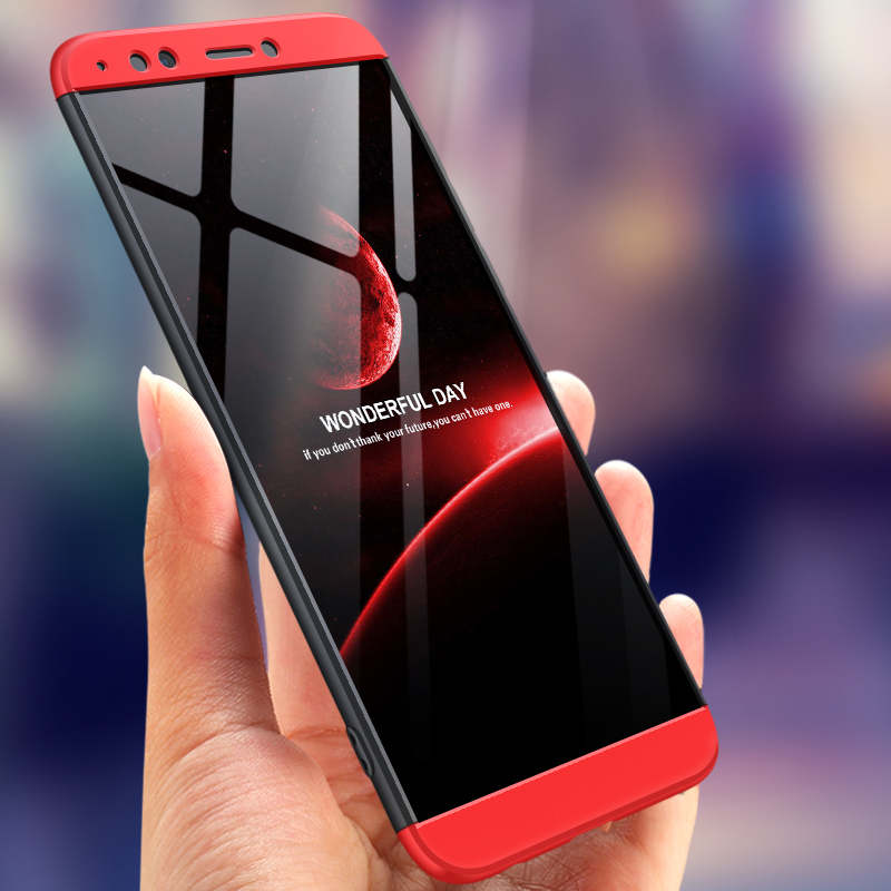 For Huawei Honor 7C Pro Case For Huawei Y7 Prime 2018 Phone Shell Full protect hard PC Back Cover For Huawei Nova 2 Lite coque in Half wrapped Cases from Cellphones Telecommunications