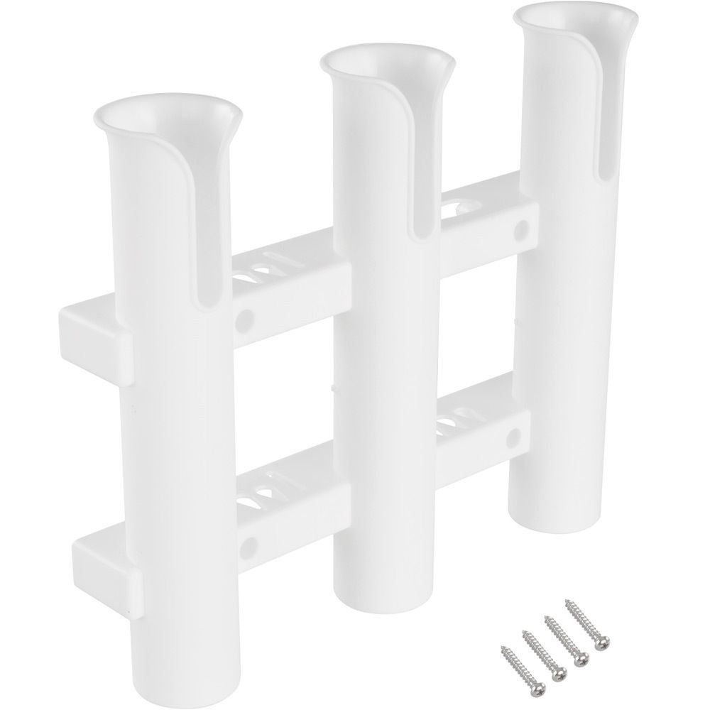 3 Tubes Plastic Boat Rod Holder For Boats Marine Yacht Fishing Rod Rack Socket Fishing Box Accessories