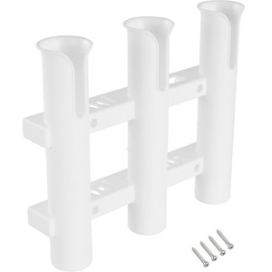 Image 1 - 3 Tubes Plastic Boat Rod Holder For Boats Marine Yacht Fishing Rod Rack Socket Fishing Box Accessories