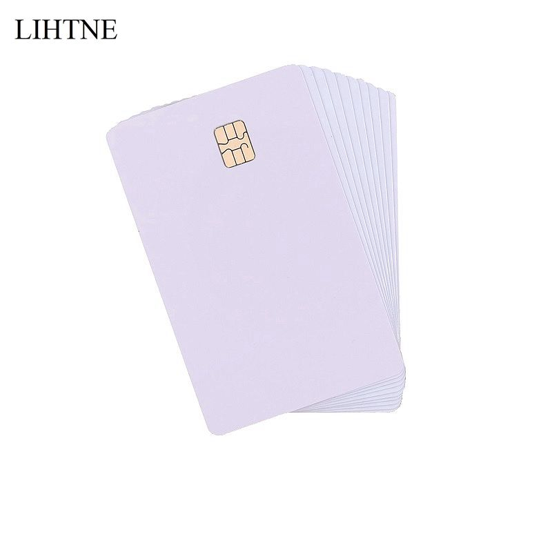 100PCS/lot SLE 4442 Chip Smart IC Cards Blank PVC IC Cards ISO7816 200pcs lot customable 8 4mm mag stripe 2 track pvc smart ic card for iso hi co 2750 3000 4000 oe