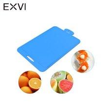 EXVI Küche Langlebigen Silikon Hackklotz Obst gemüse Flexible Schneidebrett rutschfeste Antibakterielle Sicherheit Schneiden Block