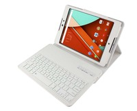 New Removable Wireless Bluetooth Russian Hebrew Spanish Keyboard Stand PU Leather Cover Case For Google Nexus