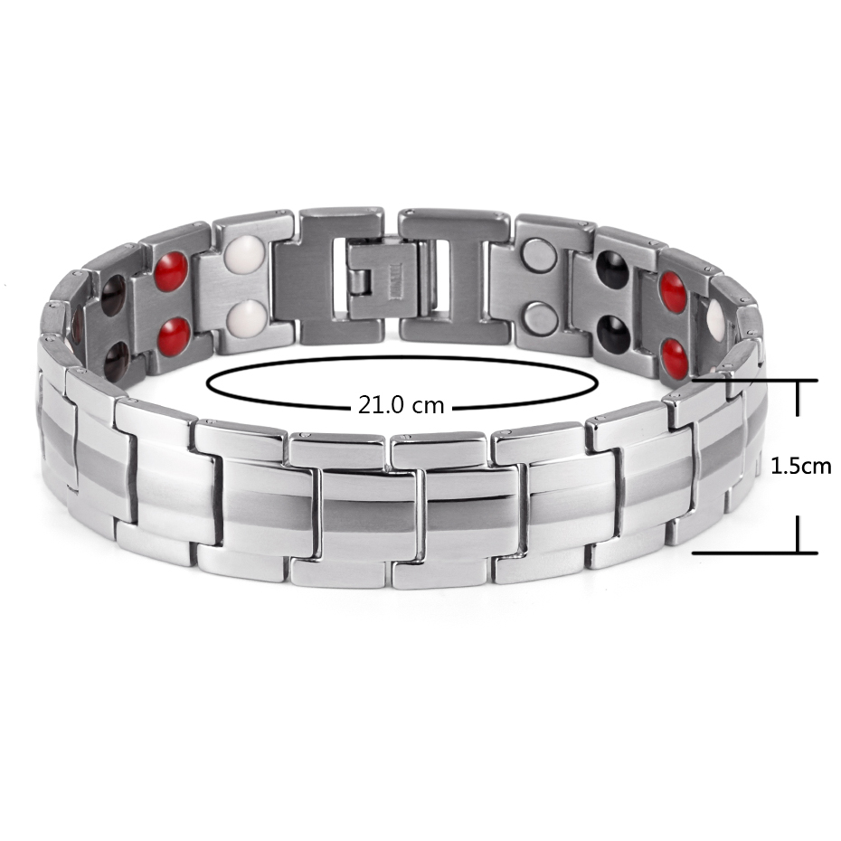 Closeout DealsRainso Bracelet for Jewelry Blood-Pressure-Accessory Healing Bio-Energy Magnetic Titanium