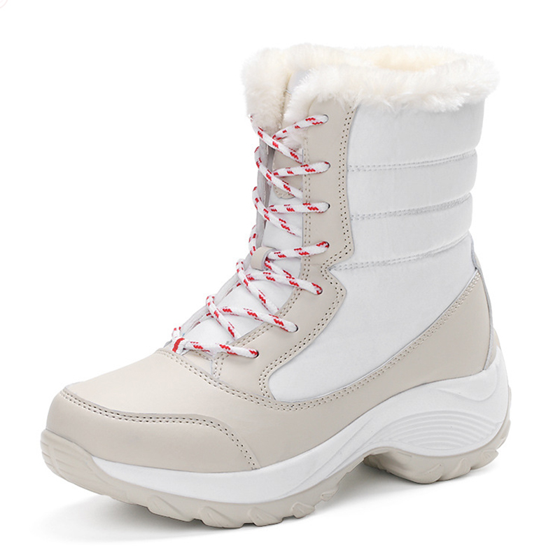 Women Snow Boots Winter Shoes Warm Plush Ankle Boots Brand Female Shoes Wedge Snow Boots