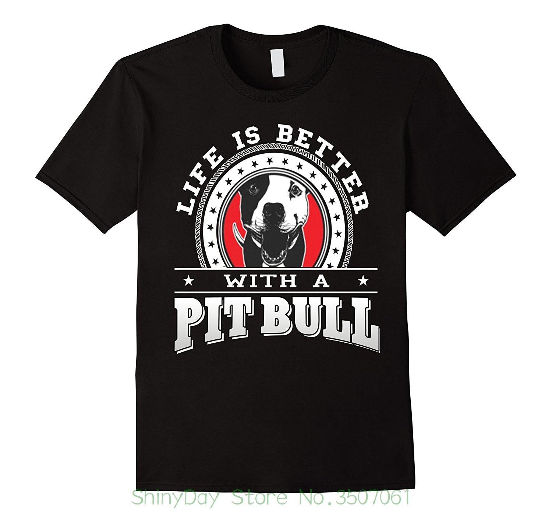 Летние Рубашка с короткими рукавами модная футболка Бесплатная доставка Питбулей любителей футболка