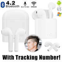 Mini Wireless Earphone V4.2 Bluetooth Earphones In-Ear Earbuds Headset with Charging Box Mic for iPhone 6 7 Samsung Xiaomi Sony