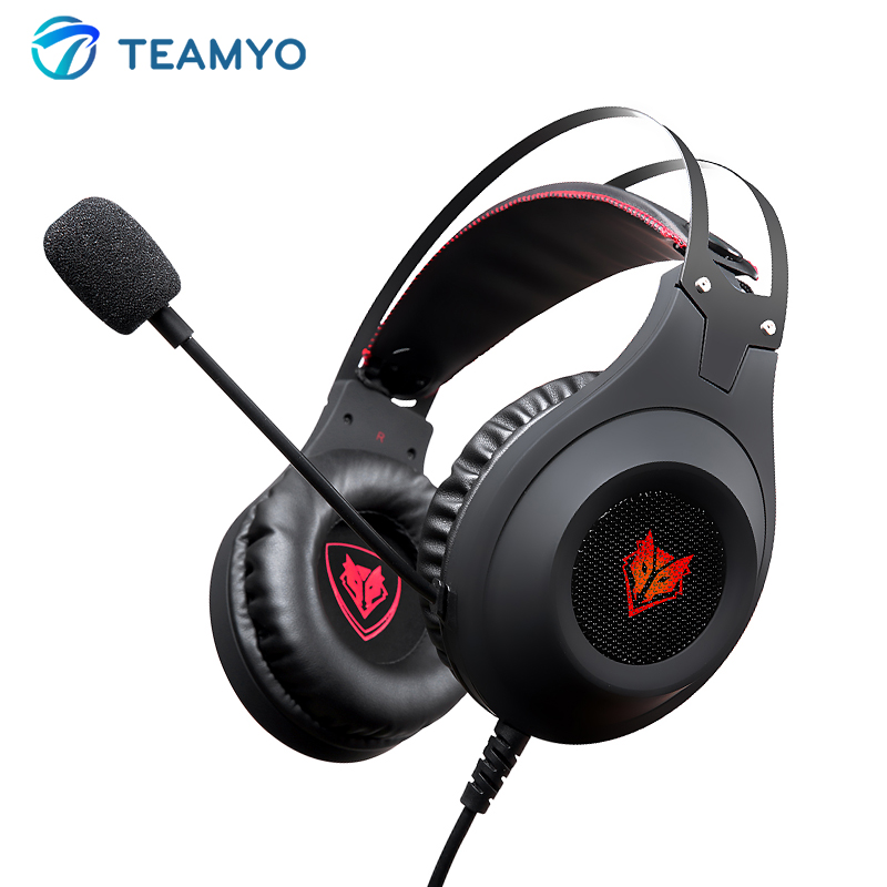 Teamyo Gaming Stereo Headphones With Microphone Earphones For Mobile Phoner PS4Xbox PC Game Headphone Headset 3.5mm with USBplug