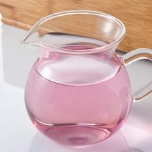 1 шт., 250 мл, Термостойкое ситечко для чая кунг-фу, прозрачная чайная ярмарка, чашка из стекла, чайная чашка JN 1030