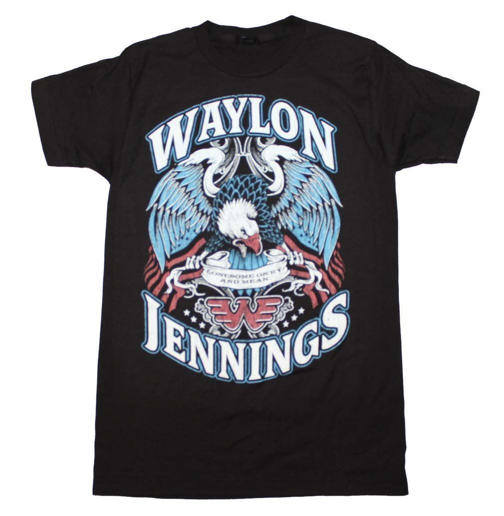Waylon Jennings Lonesome OnRy And Mean 1976 Song Inspired T-Shirt Summer Men Clothing