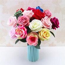 New Velvet Rose Floral Bouquet Fake Flower Arrange Table Daisy Wedding Flowers Decor Party accessory Flores