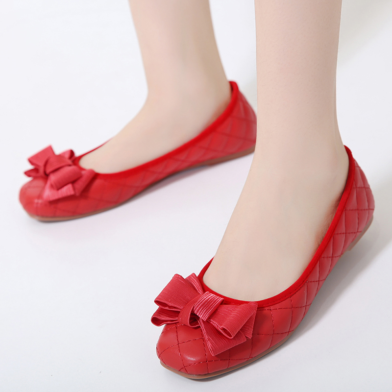 Ladies Loafers Flat-Shoes Walking-Flats Comfortable Soft Women Out PU Driving High-Quality