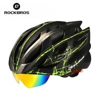 14 Style Goggles Helmet Cycling RockBros Downhill Bike Helmet For Men Women MTB Bicycle Helmet Capacete