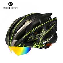 Rockbros Cycling Helmet Men/Women Breathable 32 Air Vents Goggles MTB Road Bicycle Bike Helmet With 3 Pair Lens Casco Ciclismo