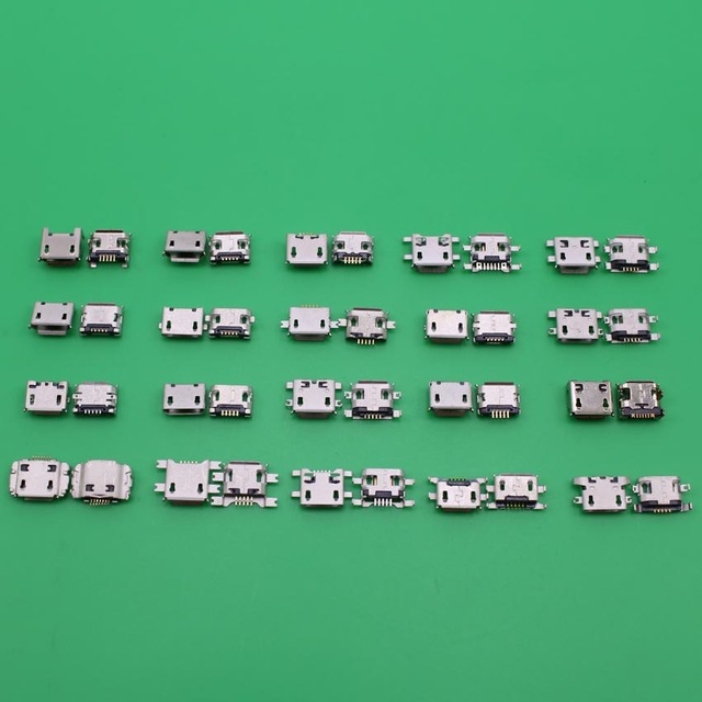 Yuxi 20 моделей micro usb jack 5p 5 контактный разъем для зарядки