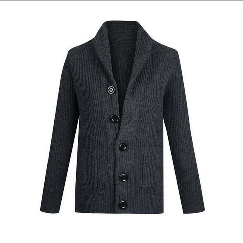 Hard-Working Vxo Autumn Winter Mens Sweatercoat Male Thickening Turn-down Collar Cardigan Coarse Wool Lines Cardigan Sweater Agreeable Sweetness Men's Clothing