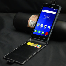 Luxury flip cover PU Leather Case For Philips S326