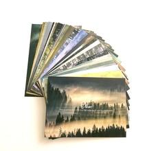 30 шт./компл. Туманный лес с классическим английским выбором фраз подарочные карты пейзаж леса фотографии открытки