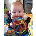 O melhor Presente! brinquedo do bebê mordedor chupeta bpa livre colorido bebê bola chocalho desenvolvimento precoce educacional toy mão toys