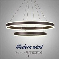 Z funkcją ściemniania 100/80 cm okrągły podwójny dystrybucji oprawa/aluminiowa obudowa z jeden kawałek bez szwu PMMA obiektyw w Wiszące lampki od Lampy i oświetlenie na