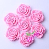 C ordialออกแบบ(F8) 50ชิ้น/ล็อต42มิลลิเมตรสีชมพูก้อนเรซิ่นดอกกุหลาบลูกปัดสำหรับ