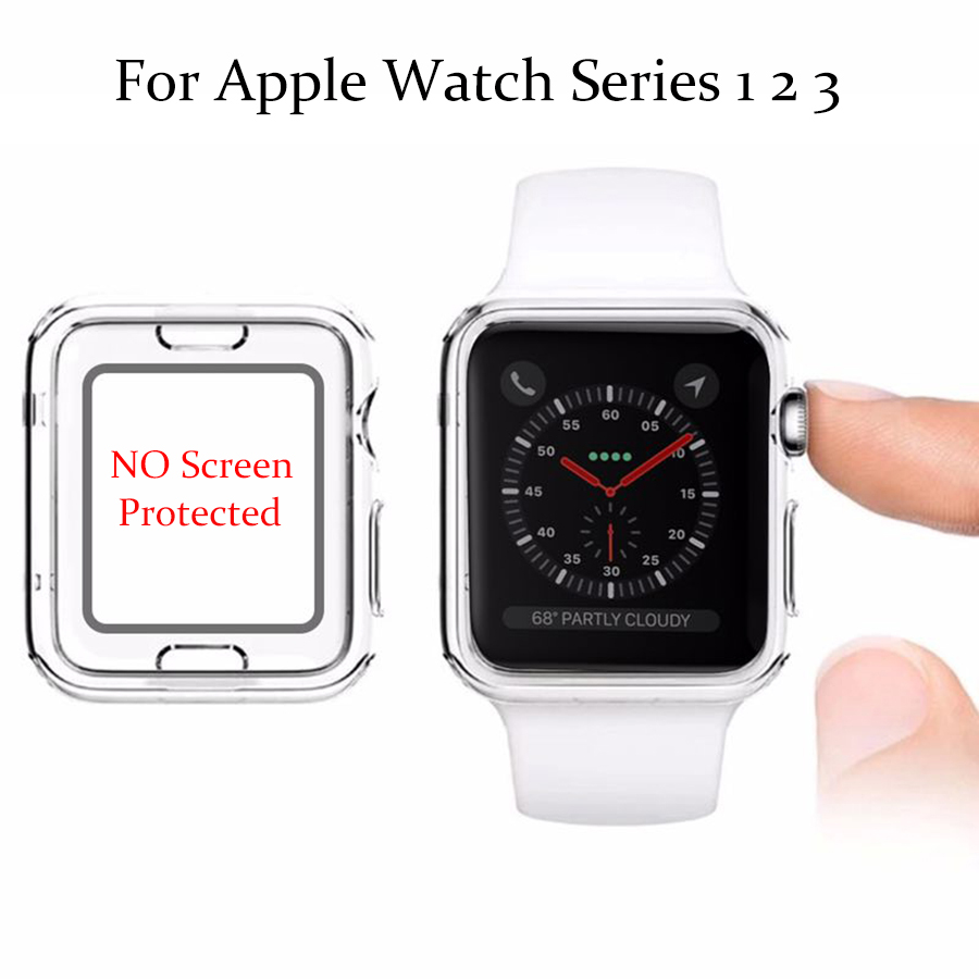 Watches Accessories For Apple Watch Series 3 2 1 Case For iphone Watch TPU case For iWatch Cover