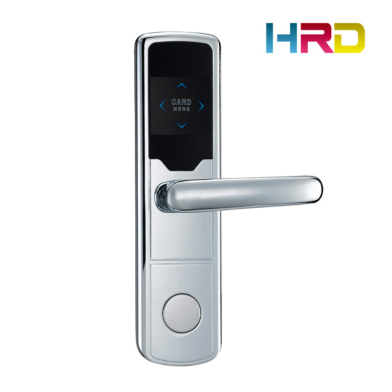 AA battery powered anti-theft hotel stainless steel card door lock T57 T5577 access control system electronic keyless door lock hotel card door lock access control keyless door lock rfid hotel lock