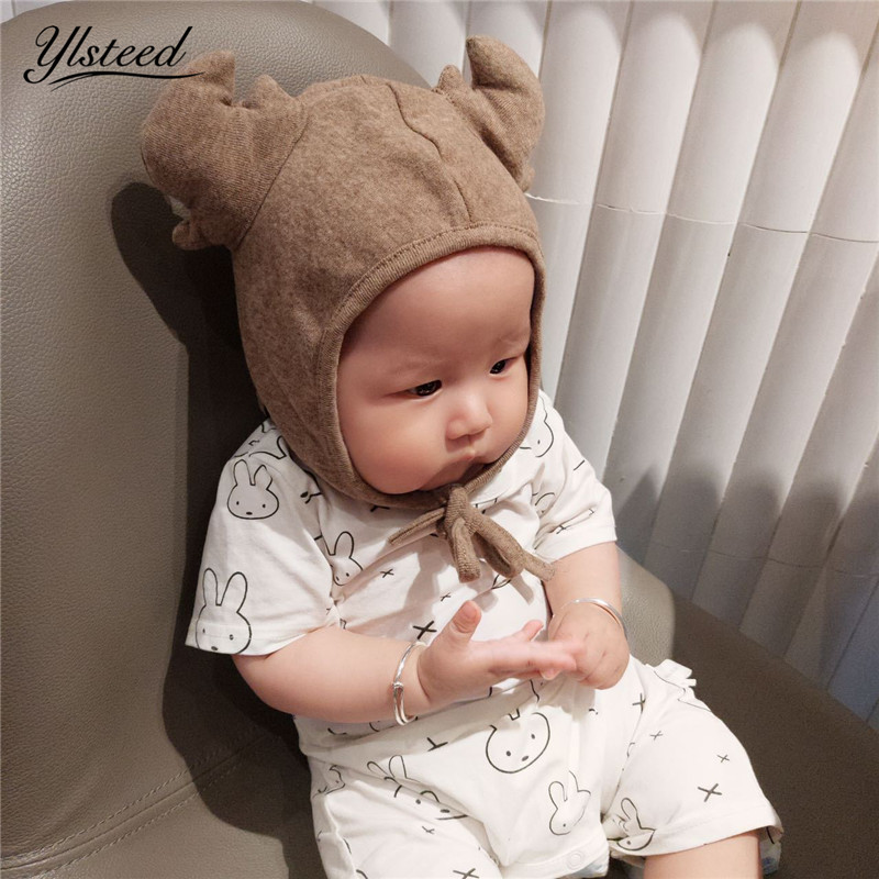 Autumn Winter Warm Baby Hat Cute Deer Animal Cap Baby Boy Ears Hat Infant Toddler Beanies Newborn Photography Accessories