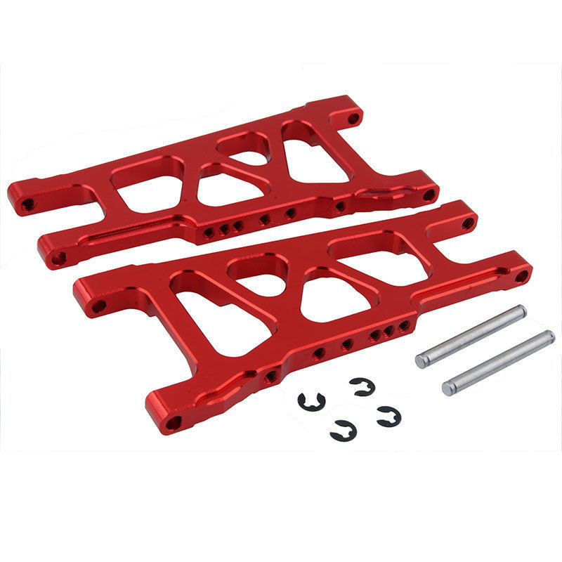 3655X Aluminum Front / Rear Lower Suspension Arms L/R For 1/10 Scale Traxxas Slash 4x4 Stampede 4WD 80704 Replacement Hop-Up for traxxas x maxx 4x4 upgrade parts aluminum rear knuckle arms hub carrier l r 7752 hop up