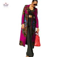 Printed Private Tailor Custom Made Full Sleeve Long Trenh COat Casul Africa Wax Trech Slim Design