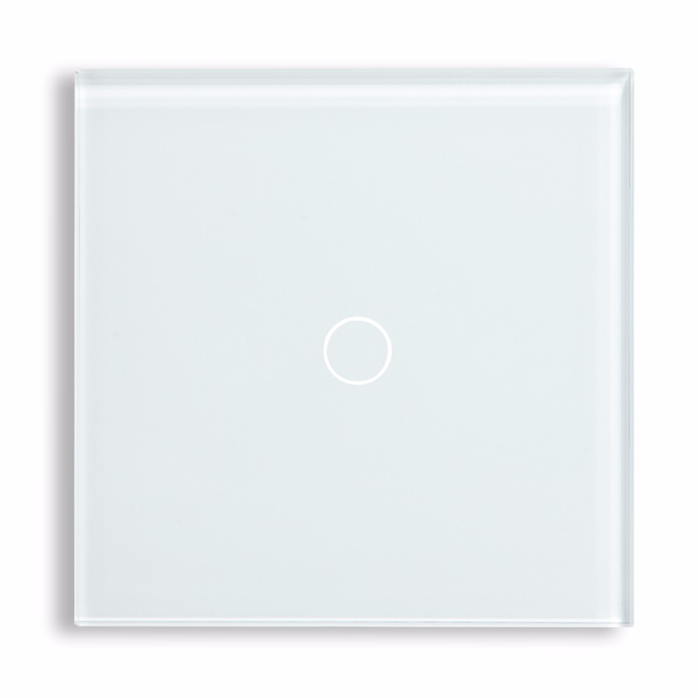 Touch Switch 1 Gang 2 Way Crystal Touch Light Switch Wall Switch by BSEED Express Delivery 5 Years Warranty, White Black Gold smart home us au wall touch switch white crystal glass panel 1 gang 1 way power light wall touch switch used for led waterproof