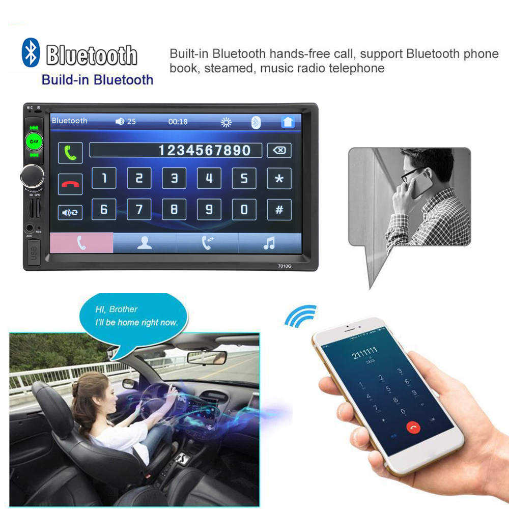 Podofo 2 din Car Radio 7 GPS Navigation audio Radio Bluetooth Autoradio MP5 Player Multimedia USB SD Multimedia Rear View Camera (6)